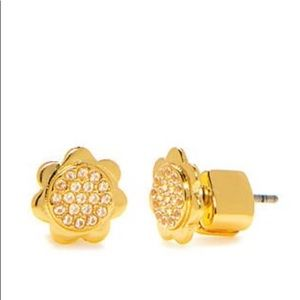 Kate Spade Slender Scallop Pave Stud Earrings